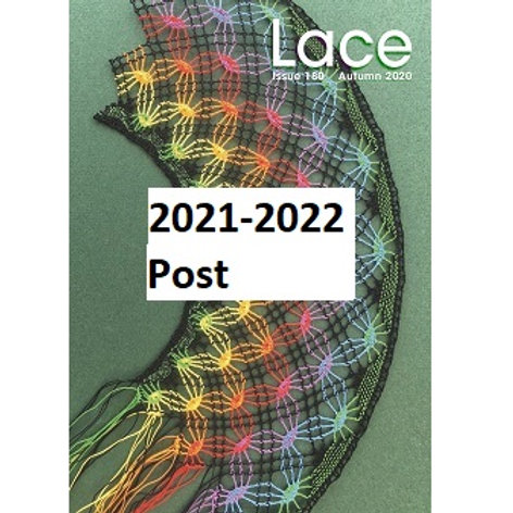 Lace Guild Postal Membership for 2021-22 (LACE magazine by post)