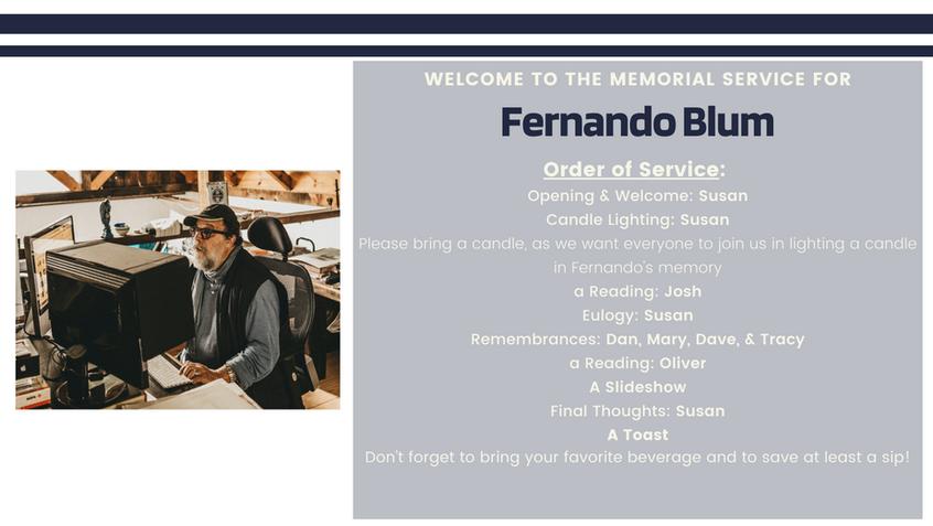 Celebrating Fenando Blum