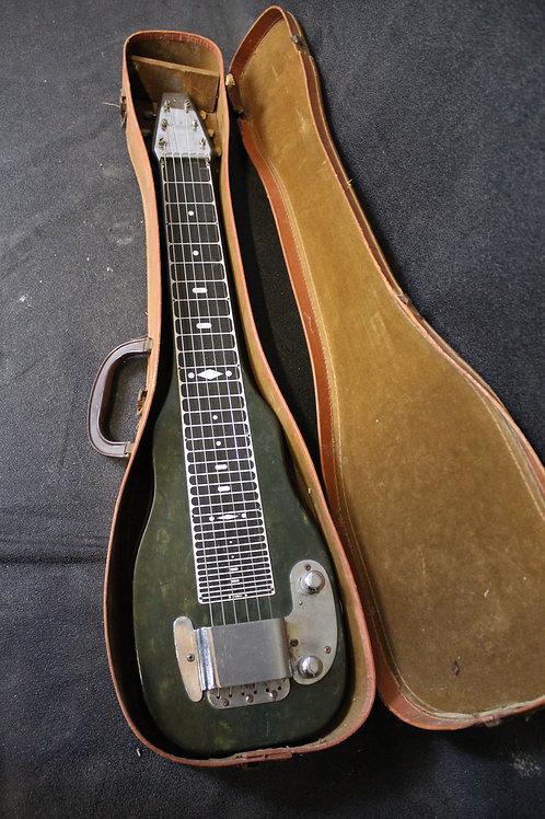 1954 Fender Arrowhead Lap Steel In Rare Pearloid Blue Turned Green