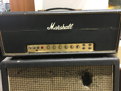 1973 Marshall 50-watt Model 1987 w/ Matching Cab