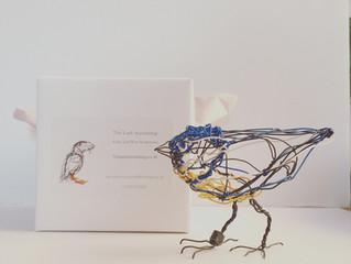 Handmade Fabriana paper boxes made for each bird
