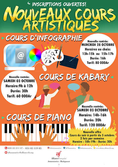 Affiche ateliers piano infographie sessi