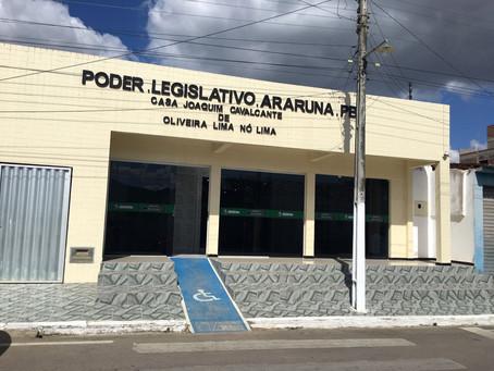 Sessão da Câmara de Vereadores de Araruna/PB é cancelada; VEJA
