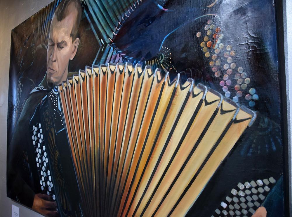 Portrait of Kimmo Pohjonen, oil painting, 2013.