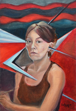 """Self portrait in existential crisis"