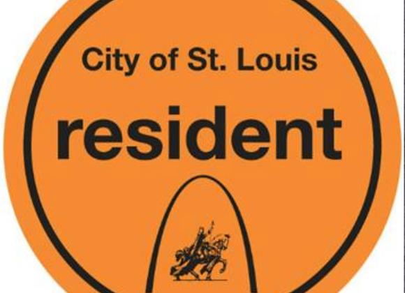 City of St. Louis Resident Sticker - Orange