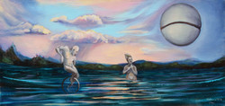 """""""Peculiar evening by the lake"""""""