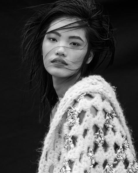 Yu Zhang's makeup artist  nyc photoshoot