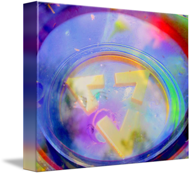 Heart of Rainbow on Canvas