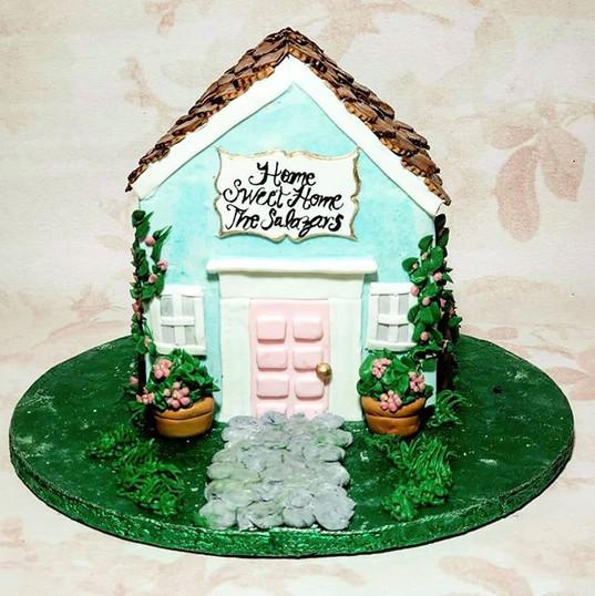 3D sculped Housewarming cake 💙_Such an