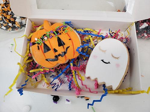 Halloween sugar cookie gift box