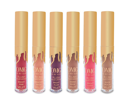 OMG Plush 6 Mini-Velvet Liquid Lipsticks