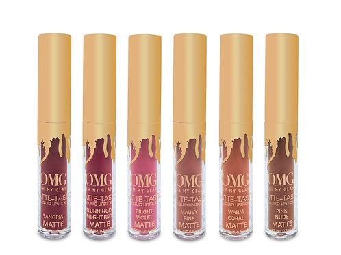 OMG Matte-Tastic 6 mini-matte liquid lipsticks