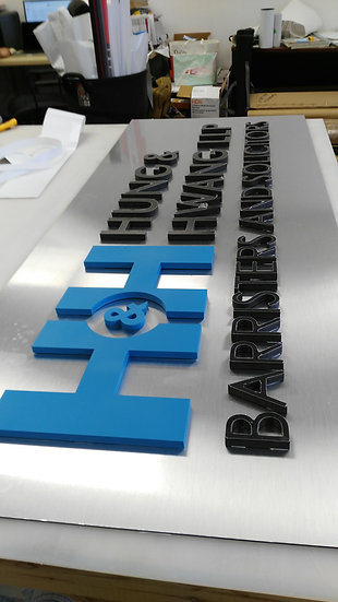 SIGN LETTERS CUTTING
