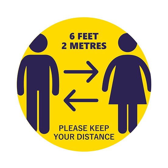 "12"" Circle Social Distancing Floor Stickers"
