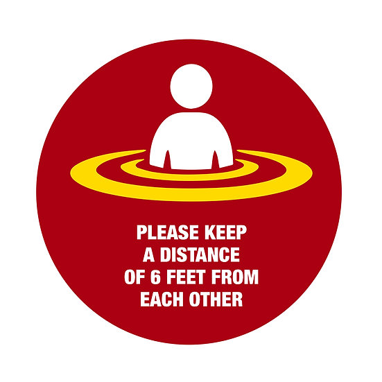 "17"" Circle Social Distancing Floor Stickers"