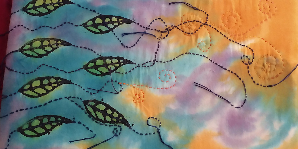 Block Printing on Fabric with Kathryn Gauldin