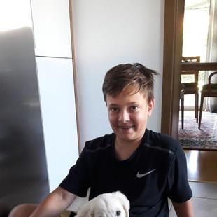 Aaron mit bestem Freund