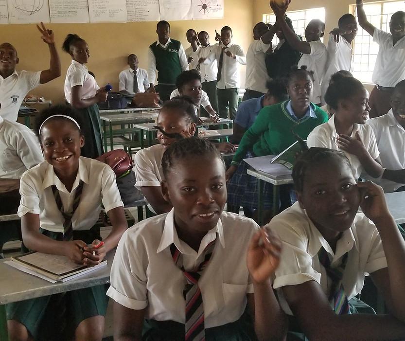 Mfuwe Secondary students
