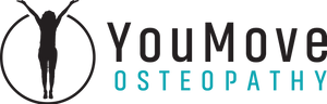 this is the logo for YouMove Osteopathy. Lachlan Allen is an Osteopath in Mount Eliza.