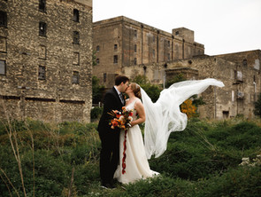 Fall wedding at The Cooperage