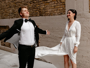 Colorful, feel-good wedding at Jan Serr Studio