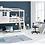 Thumbnail: Lit mi-hauteur 1/2 maison blanchi