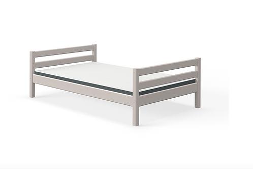 Lit simple gris 140x200cm