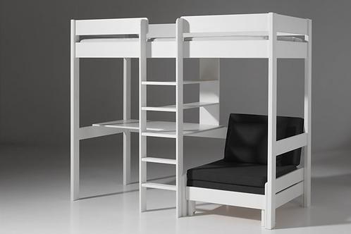 Pino blanc bureau et coin sofa