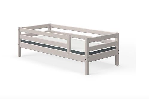 Lit simple gris avec barrières