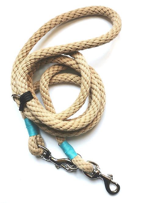NEWPORT Guinzaglio LUNGO estendibile, regolabile in lunghezza, in corda nautica