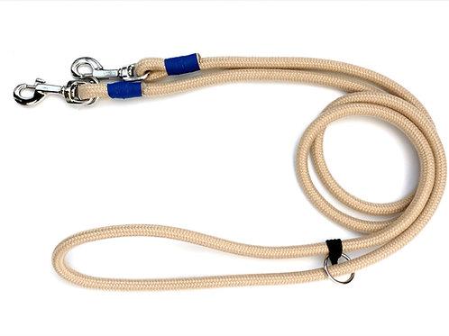 Guinzaglio LUNGO estendibile, regolabile in lunghezza, in corda nautica Naturale