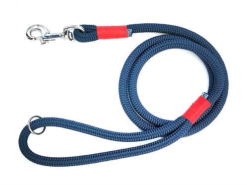 MARINE - Guinzaglio in corda Blu con impiombature colorate