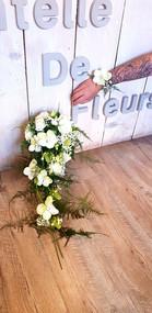 Bouquet de mariée cascade avec bracelet