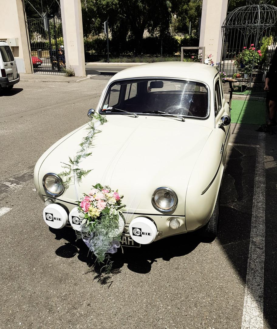 Décoration voiture mariage