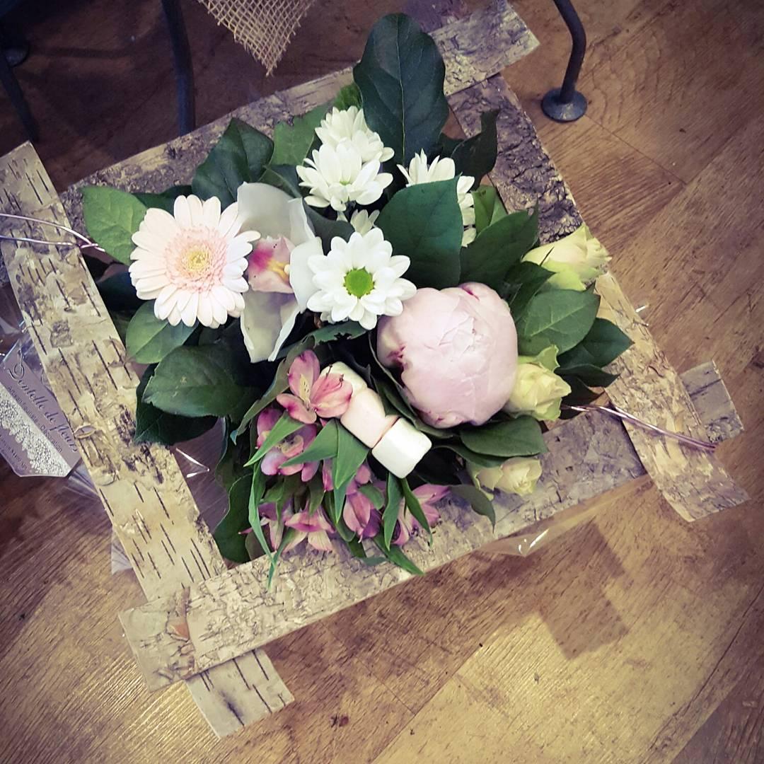 Bouquet avec sa structure en écorce