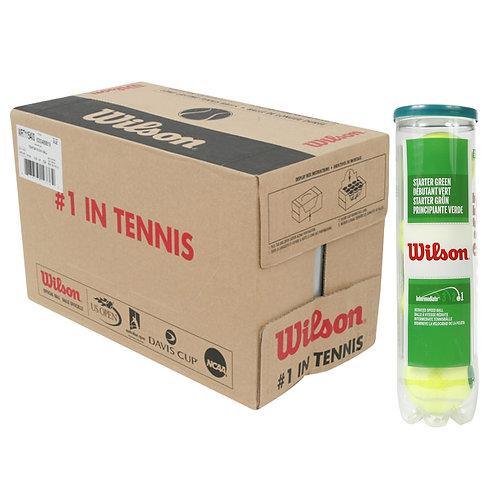 Balles Wilson green ( 18 tubes de 4 balles )