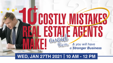 10+ Costly Mistakes Real Estate Agents Make!@
