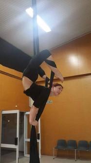 Mel showing her flexibility