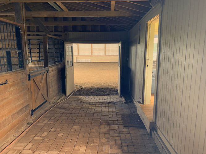 Cheval barn into indoor