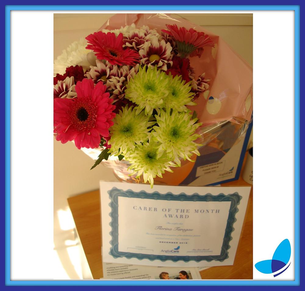 Carer of the Month Award December!