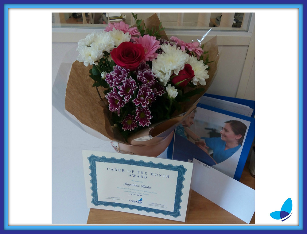 Carer of the month award! July 2016