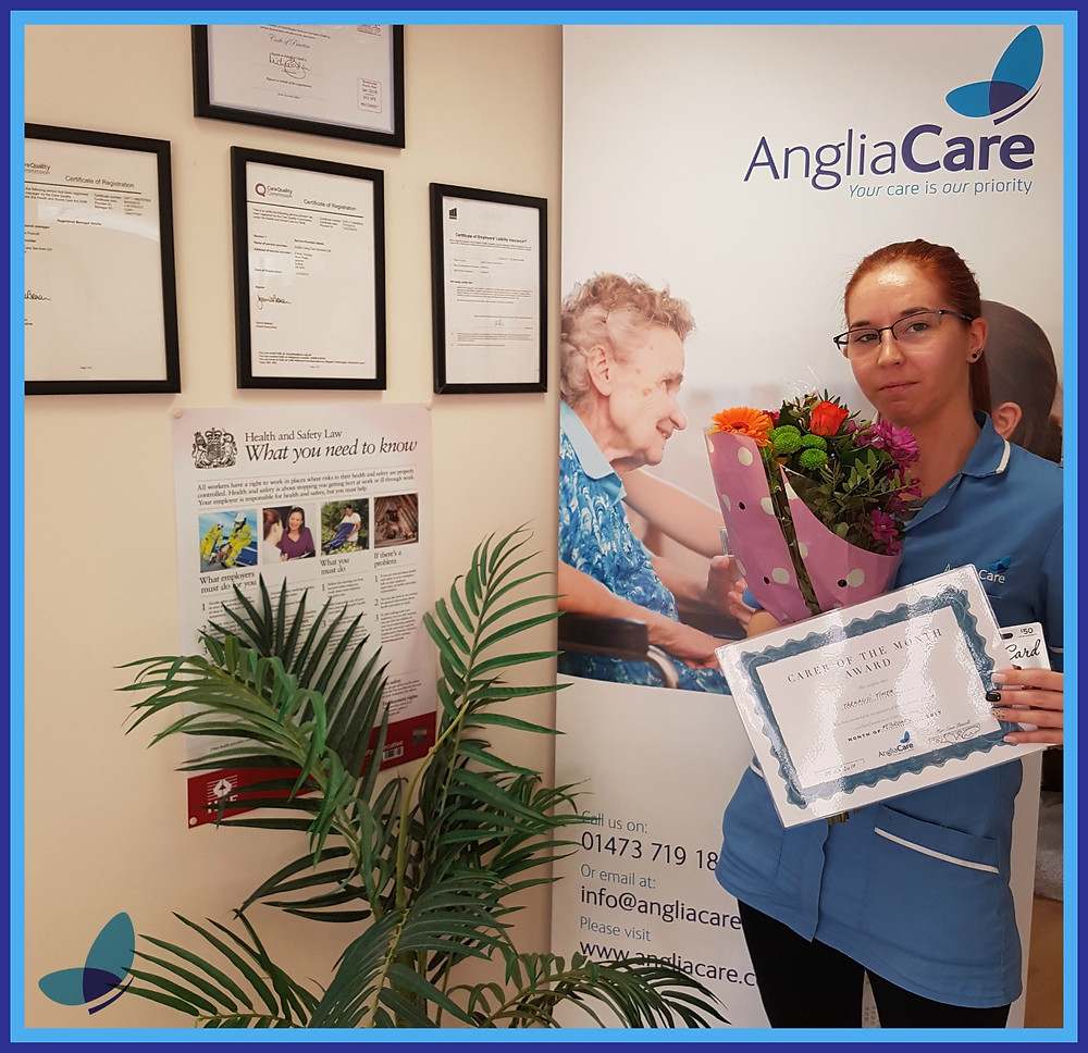 Carer of the month award February 2017