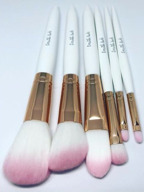 Cressida Harte 6pcs Super-Super-Soft Ombre Brush Set, Shiny or Matte Ferrules