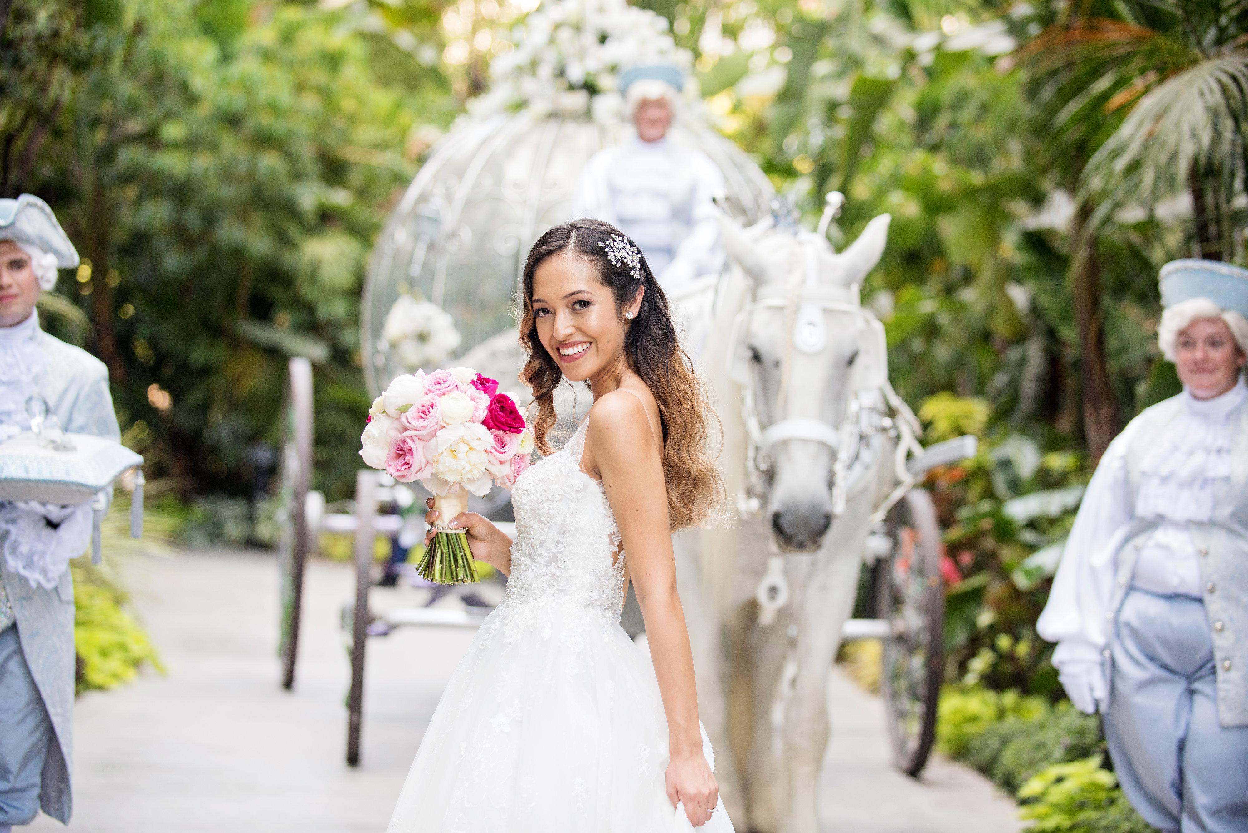 Columbian disney bride hair and makeup by Karissa Lorinne