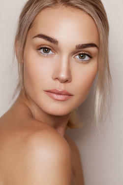 Beauty editorial makeup and hair