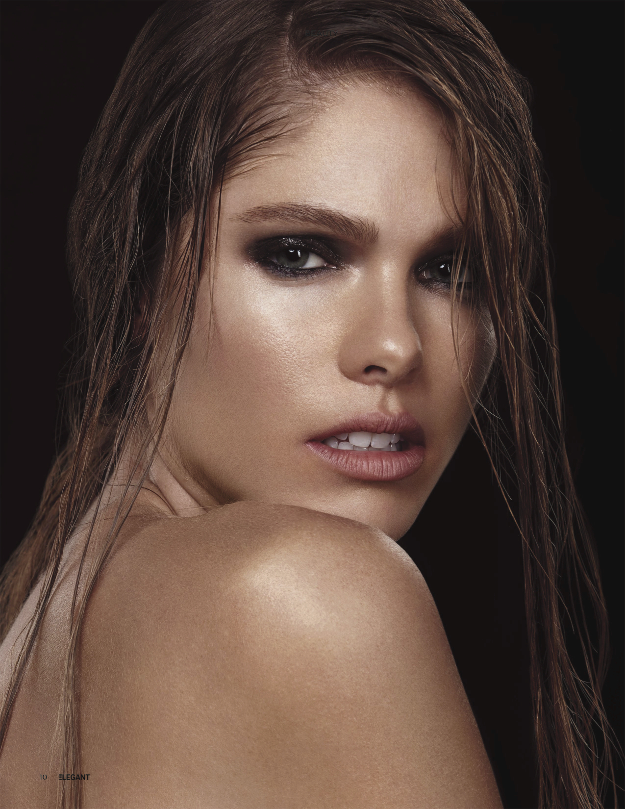 Published beauty editorial makeup