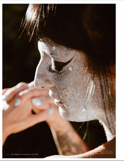 Published editorial makeup and hair