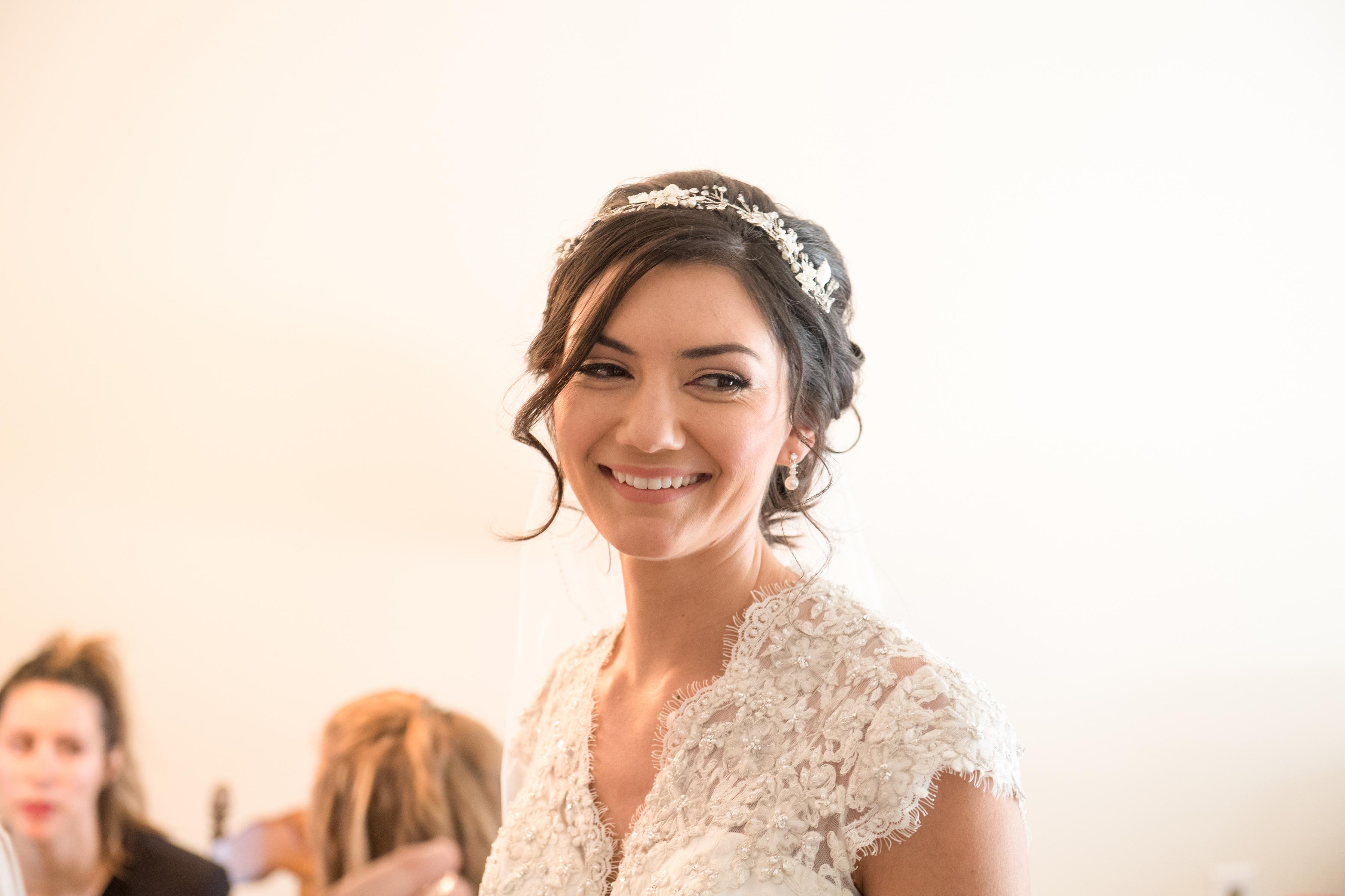 Bridal makeup with a natural glow