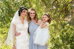 Makeup on bridesmaids
